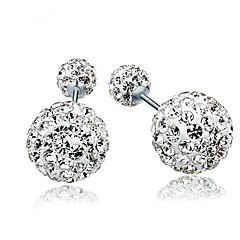 Earring Earrings Set Jewelry Women Wedding / Party / Daily / Casual / Sports Sterling Silver / Zircon 1 pair Silver