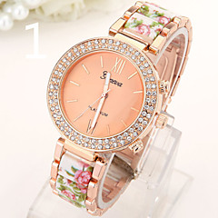 Ladies' Watch The New Geneva Double Diamond Ceramic Acrylic Alloy Stamp Watch