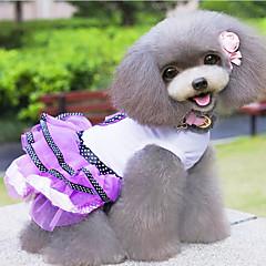 Perros Vestidos / Ropa / Ropa Rojo / Morado Primavera/Otoño Lazo / Lunares Moda