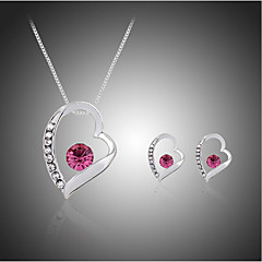Lucky Doll Women Cute / Party Silver Plated / Alloy / Rhinestone / Gemstone & Crystal Necklace / Earrings Jewelry Sets