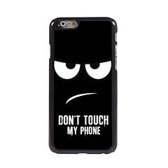 Mert iPhone 6 tok / iPhone 6 Plus tok Minta Case Hátlap Case Alb negru Kemény Fém iPhone 6s Plus/6 Plus / iPhone 6s/6