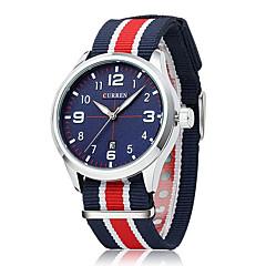 homens Curren relógio de quartzo relógio de pulso esportes impermeáveis calendário do relógio genuíno tecido (cores sortidas)