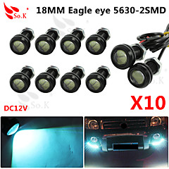 10 X ICE 9W LED Eagle Eye Light Car Fog DRL Daytime Reverse Backup Parking Signal 12V