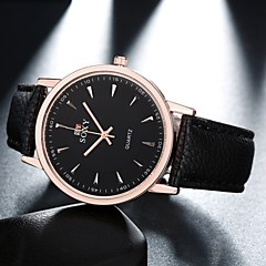 Hombre Reloj de Moda Cuarzo Reloj Casual Piel Banda Negro / Marrón Marca-