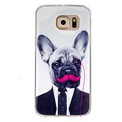 Mert Samsung Galaxy tok Minta Case Hátlap Case Kutya TPU Samsung S7 / S6 edge / S6