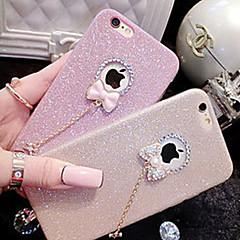 Til Etui iPhone 6 Etui iPhone 6 Plus Rhinstein Etui Bakdeksel Etui Glitter Myk TPU til iPhone 6s Plus/6 Plus iPhone 6s/6