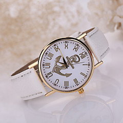 Women's Anchor Case Leather Band Wrist Fashion Dress Watch Jewelry for Wedding Party Cool Watches Unique Watches