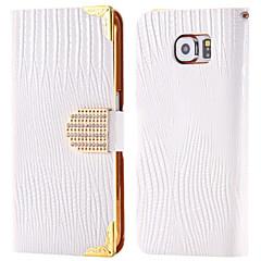Voor Kaarthouder / Strass / met standaard / Flip hoesje Volledige behuizing hoesje Effen kleur Hard PU-leer SamsungNote 5 / Note 4 / Note