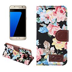 Do samsung galaxy s7 krawędź s6 krawędź plus okładka na kwiaty pokryte etui skórzane telefony komórkowe na s5 s4 s4 aktywne s4 mini s5