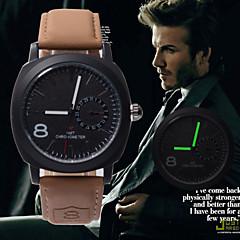 2016 New Business Quartz watch Men sport Military Watches Men Corium Leather Strap army clock hours Complete Wrist Watch Cool Watch Unique Watch
