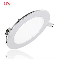 12W Panellamper 60 Højeffekts-LED 1000LM lm Varm hvid Kold hvid Dekorativ Vekselstrøm 85-265 V 1 stk.