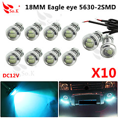 10 X ICE 12V 9W LED DRL Eagle Eye Light Car Auto Fog Daytime Reverse Signal