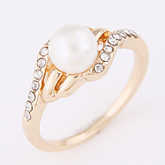 Women's New Fashion Elegant Sweet Simple Pearl Ring