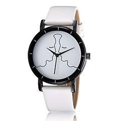 Simple black and white quartz watch