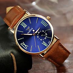Mulheres Relógio Elegante Quartz Couro Banda Marrom marca