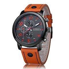 CURREN® Men's Fashion Dress Watch Japanese Quartz Leather Strap Cool Watch Unique Watch