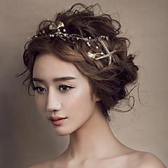 joyería del pelo de los peces de mar de oro diadema la frente de la mujer para la fiesta de la boda