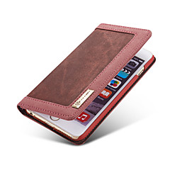 For iPhone 5 Case Wallet / Card Holder / with Stand / Flip Case Full Body Case Solid Color Soft TextileiPhone 7 Plus / iPhone 7 / iPhone