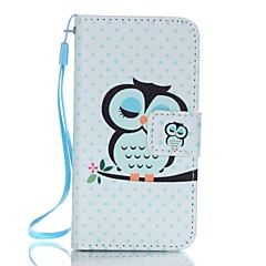 For iPhone 5 Case Wallet / Card Holder / with Stand / Flip / Pattern Case Full Body Case Owl Hard PU Leather iPhone SE/5s/5