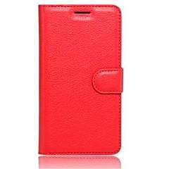 Voor Lenovo hoesje Hoesje cover Portemonnee Kaarthouder met standaard Flip Volledige behuizing hoesje Effen Kleur Hard PU-leer voor Lenovo