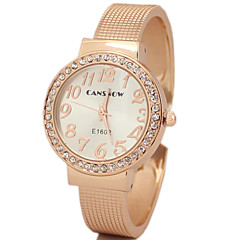 Women's Diamand Steel  Band Quartz Analog Bracelet Watch Cool Watches Unique Watches