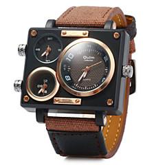 Męskie Zegarek na nadgarstek Kwarcowy Kwarc japoński Trzy strefy czasowe Skóra Pasmo Ekskluzywne Czarny Niebieski BrązowyWhite Black
