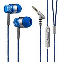 Kanen 3.5mm hands-free stereo in-ear hoofdtelefoon lage bass headset met microfoon voor smartphones