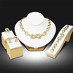 Women Party Alloy Necklace / Earrings / Bracelet / Ring Sets