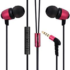 abingo S600i metal ergonomische oordopjes stijl hoofdtelefoon met microfoon& afstandsbediening voor smartphone