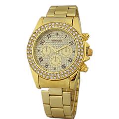 Men's Gold Dial Steel Belt Quartz Watch Wrist Watch Cool Watch Unique Watch