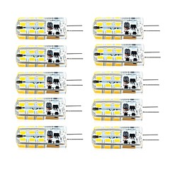 3W G4 Luces LED de Doble Pin T 81 SMD 2835 260 lm Blanco Cálido / Blanco Fresco Regulable AC 100-240 / DC 12 / AC 12 V 10 piezas