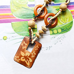 Z&X® Wood Necklace Pendant Necklaces Daily / Casual 1pc