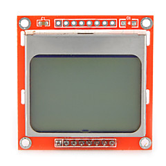 1,6 tommers lcd nokia 5110 lcd modul med hvit bakgrunnsbelysning for Arduino