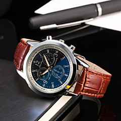 Men's Fashionable  Blu-ray Business Wrist  Watches Leather Band Wrist Watch Cool Watch Unique Watch