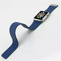 Lederen lus voor appel horloge 42mm lederen vervanging horloge band armband riem