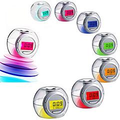 디지탈 플라스틱 알람 시계,LED