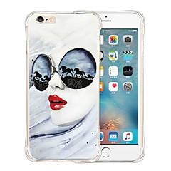 le donne della moda morbido silicone trasparente antiurto posteriore per iPhone 6 Plus / 6s più (colori assortiti)