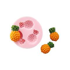 Τρεις τρύπες Pineapple Fruit φόρμα σιλικόνης Fondant Καλούπια Ζάχαρη Τέχνη Εργαλεία Chocolate Mould για κέικ