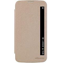 Για Θήκη LG Αυτόματη αδράνεια/αφύπνιση / Ανοιγόμενη tok Πλήρης κάλυψη tok Μονόχρωμη Σκληρή Συνθετικό δέρμα LG LG K10