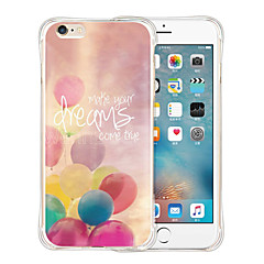 laat de droom zachte transparante siliconen achterkant van de behuizing te vliegen voor de iPhone 6 / 6s (diverse kleuren)