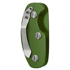 fura lega di alluminio esterno leggero organizzatore portachiavi con clip - nero / arancio / verde
