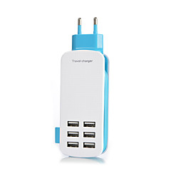 eu 6port usb laturi socket lightningproof anti ylikuormitus 5v 6a antojännite köydessä: 1,4 (eri värejä)