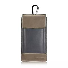 couro caseme universal pu cintura outdoor pendurar clipe para cinto tampa da caixa de telefone carteira para galáxia S6 borda plus / S7 /