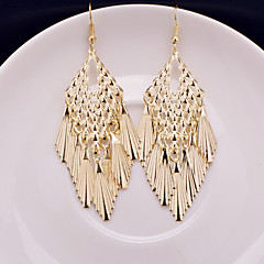 Top Quality European Style Hollow Out Gold/Silver Polished Drop Earrings for Wedding Party