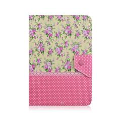 universal caso tablet de 7 polegadas padrão floral pu couro aleta tampa da caixa de suporte para 7.0 polegadas tablet