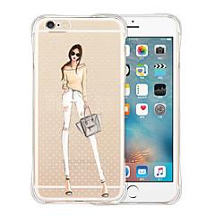 Pro Pouzdro iPhone 5 Průhledné Carcasă Zadní kryt Carcasă Sexy lady Měkké Silikon iPhone SE/5s/5