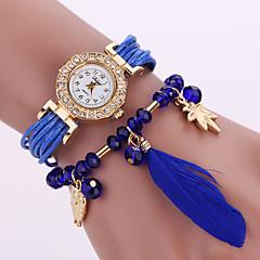 Femme Montre Tendance Quartz Owl style Cuir Bande Fleur Noir Blanc Bleu Rouge Marque