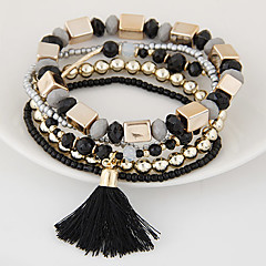 Damskie Bransoletki z breloczkami Bransoletki Strand Bohemia Style Wielowarstwowy Europejski biżuteria kostiumowa Żywica Stop Biżuteria Na