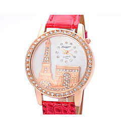 Women's Fashionable  Leisure Large Diamond Dial Quartz Watch Leather Band Cool Watches Unique Watches