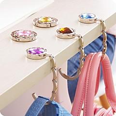 Hak torba Rhinestone mody bramkarza składana torebka Uchwyt worka metalu hangbag (losowy kolor)